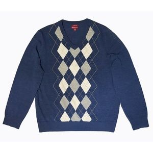 New MERONA Men's 100% Merino Wool Navy Sweater